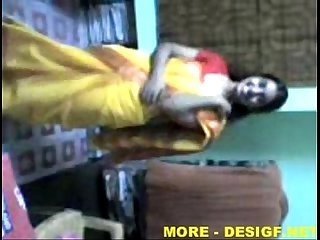 Indian Lucknow Girl stripping saree after party